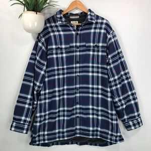 LL Bean Men's XL Tall Fleece Lined Flannel Shirt